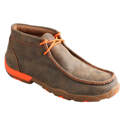 Men's Chukka Driving Moc - Neon Orange