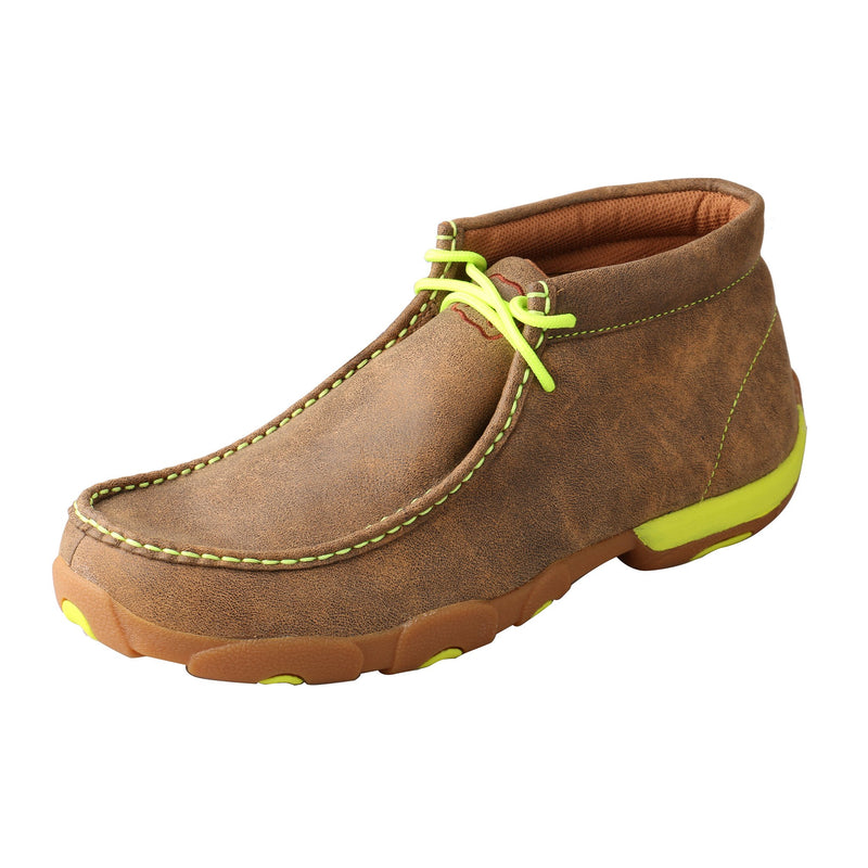 Men's Chukka Driving Moc - Neon Yellow