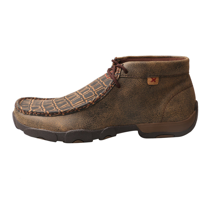 Men's Work Alloy Toe Chukka Driving Moc - Croc Print