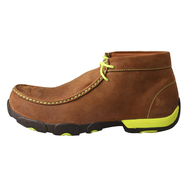 Men's Work Steel Toe Chukka Driving Moc - Neon Yellow