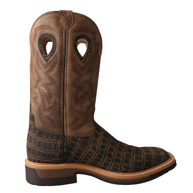 Men's Alloy Toe Lite Western Work Boot - Croc Print