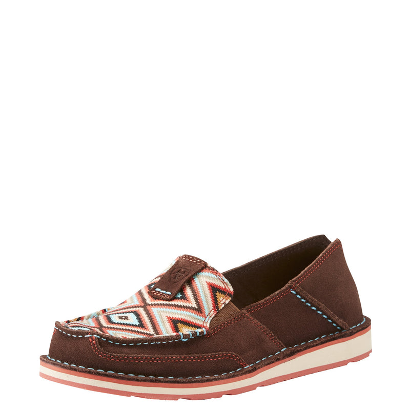 Women's Coffee Bean & Pastel Aztec Cruiser Shoe