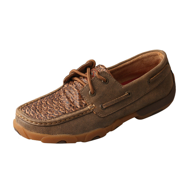Women's Boat Shoe Driving Moc - Fish Print