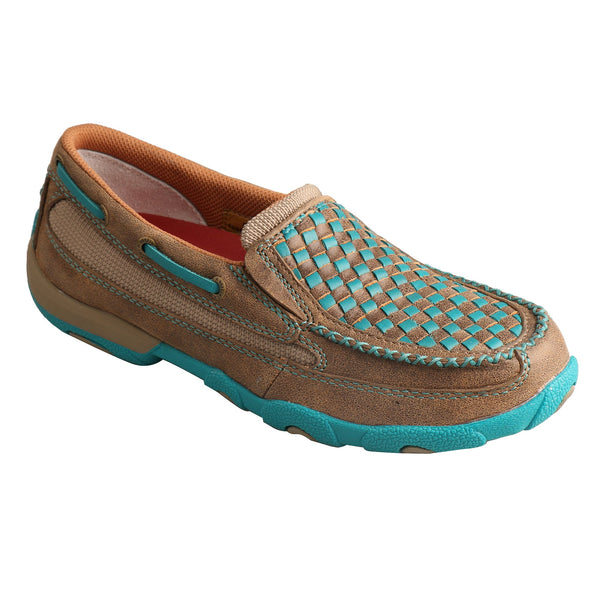 Women's Slip-On Driving Moc - Turquoise