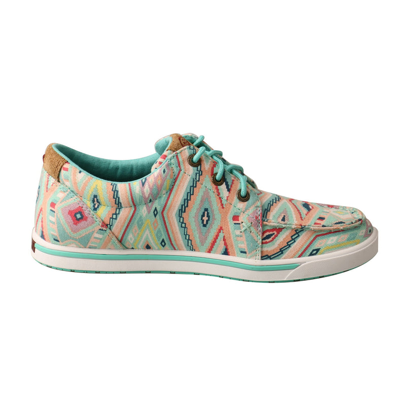 Women's Hooey Loper - Light Blue Aztec