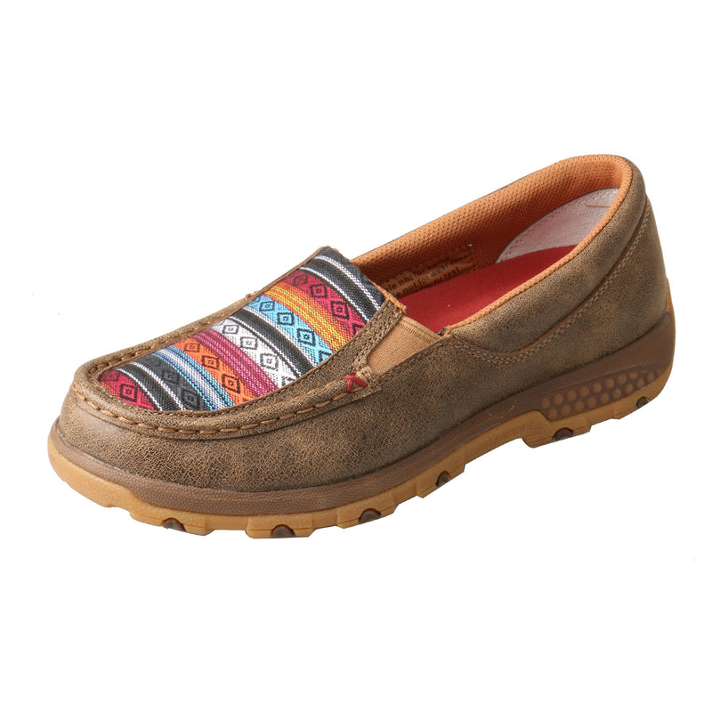 Women's Slip-On Driving Moc with CellStretch® - Aztec