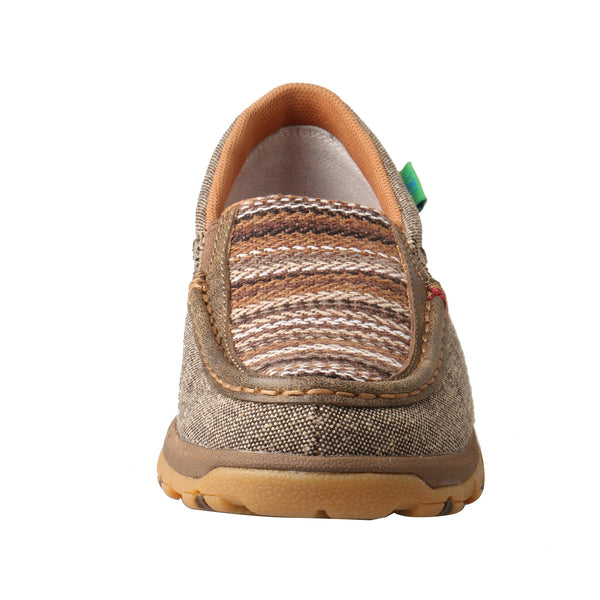 Women's Slip-On Driving Moc with CellStretch® - Brown Multi