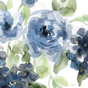 Belle's Blue II Indigo Canvas Prints