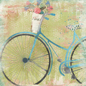 Bicycle Blue Canvas Art