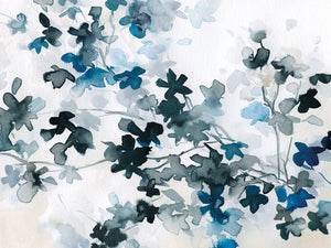 Blue Cherry Blossoms by Carol Robinson - highest quality handcrafted wall art work on large canvas & framed canvas prints