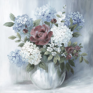 Hydrangea Arrangement Soft by Nan - lowest price wall art work on large canvas & framed canvas prints