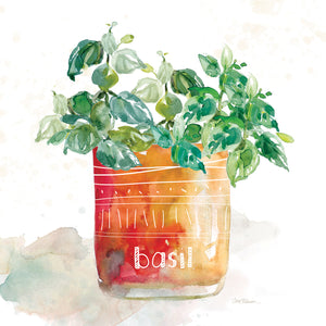 Potted Basil Canvas Art