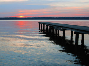 Twilight Pier I Canvas Art