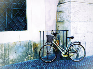Biking in Italy Canvas Art