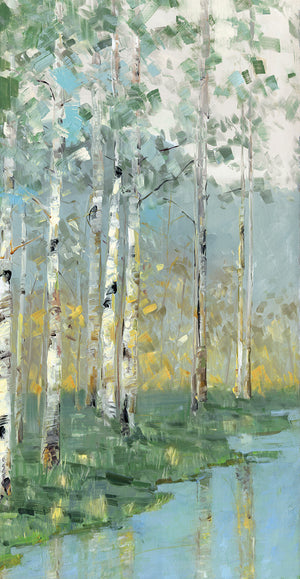 Birch Reflections III Canvas Art