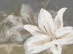 Floating Flowers Natural Canvas Art