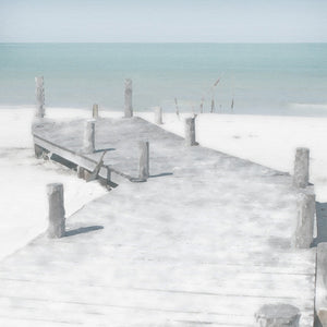 Old Jetty Square Canvas Art