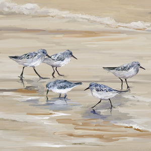 Sandpiper Beach II Amber Canvas Art