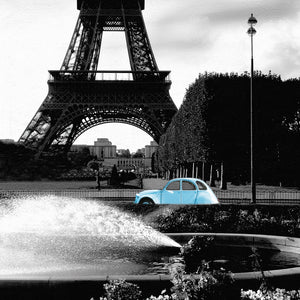 Tower and 2CV Canvas Art