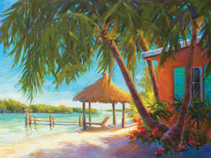 A Day in Paradise Bright by Kathleen Denis - museum quality wall art work on large canvas & framed canvas prints