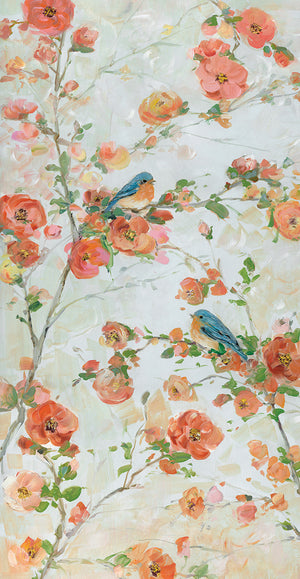 Bluebirds & Blossoms Canvas Art