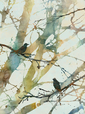 Botanical Birds II Canvas Art