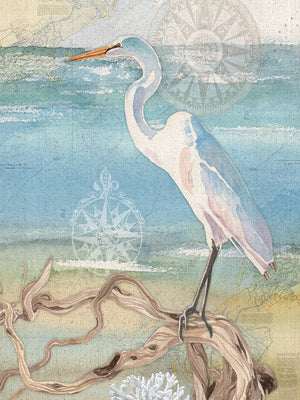Egret Canvas Art