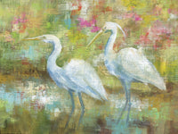 Egret Tapestry Canvas Prints