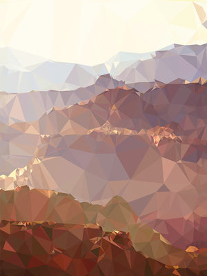Faceted Desert 2 Canvas Art