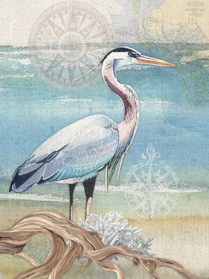 Heron Canvas Art