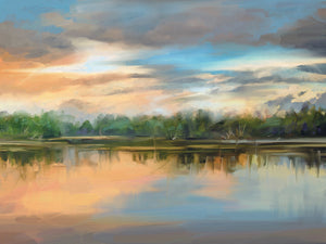 Lakeside Light Canvas Prints
