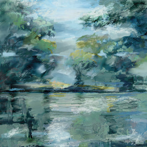 Lakeside Vista Canvas Art