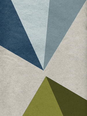 New Linen Geometrics E Canvas Art