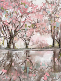 Pink Blossom Reflection Canvas Art