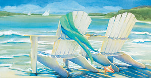 Seaside Breeze by Kathleen Denis - museum quality wall art work on large canvas & framed canvas prints