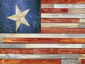 Wooden Flag Canvas Art