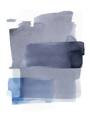 Layering Indigo Canvas Art