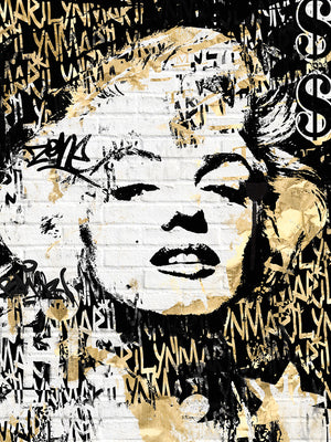 Marilyn in Gold Canvas Art