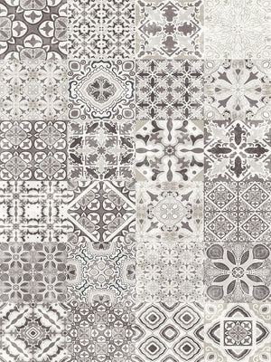 Taupe Tiles Canvas Prints