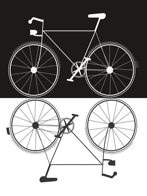 Two Bikes Canvas Art
