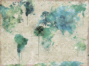 Watercolor World Canvas Prints