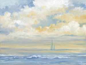 Misty Morning Sail Canvas Art