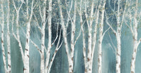 Birch on Blue Soft Canvas Prints