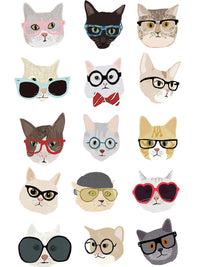 Cats with Glasses Canvas Prints
