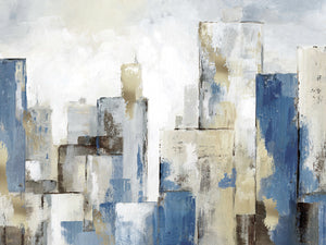 City Blues II Light Canvas Art
