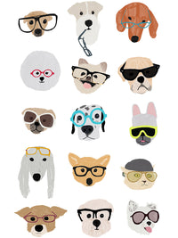 Dogs with Glasses Canvas Prints