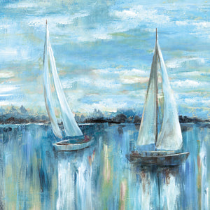 Evening on the Bay Square Canvas Art