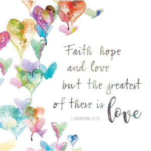 Faith Hope and Love Canvas Art