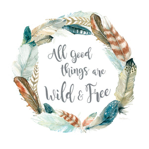 Feather Wild and Free Canvas Art