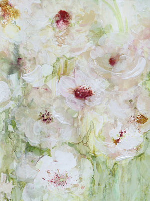 Jardin Blanc Crop II Canvas Art